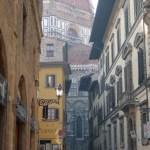 Side street near Duomo, Florence