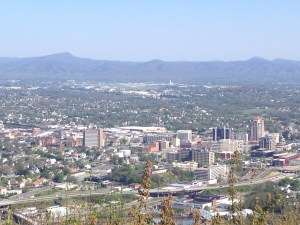 Looking Down on Roanoke