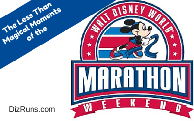 Walt Disney World Marathon, Low Lights, Negatives,