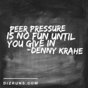 Peer Pressure for Runners