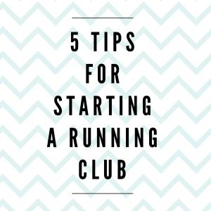 Starting a Running Club