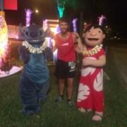 Lilo and Stitch at the 2015 Wine and Dine Half Marathon
