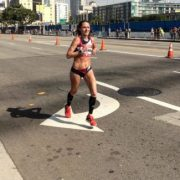 Becki Spellman in the 2016 Olympic Trials Marathon