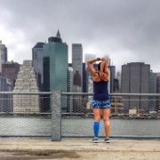 Christine Yu and the NYC Skyline
