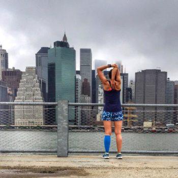 Christine Yu and the NYC Skyline