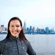 Andrea Golden in Front of the NYC Skyline