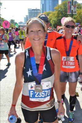 Wendy Rivard After the Chicago Marathon 2015