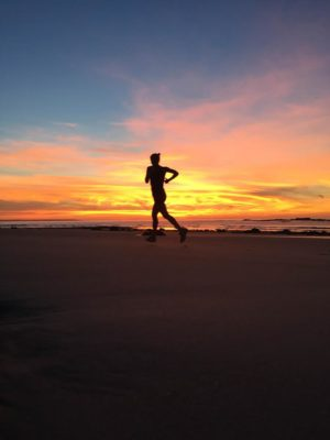 Sarah Canney Running the Beach