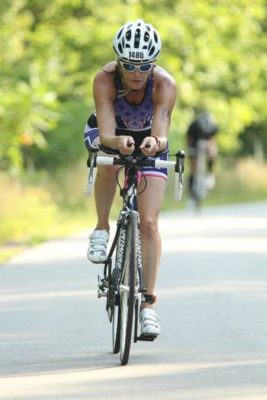 Sandra Laflamme on the Bike