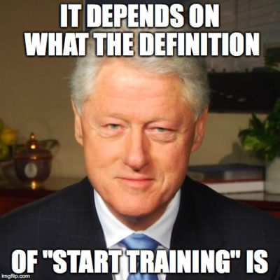 When do you start training for a race
