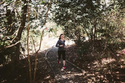 Heather Caplan on the Trails