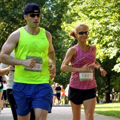 Susie Lemmer Running With her Husband