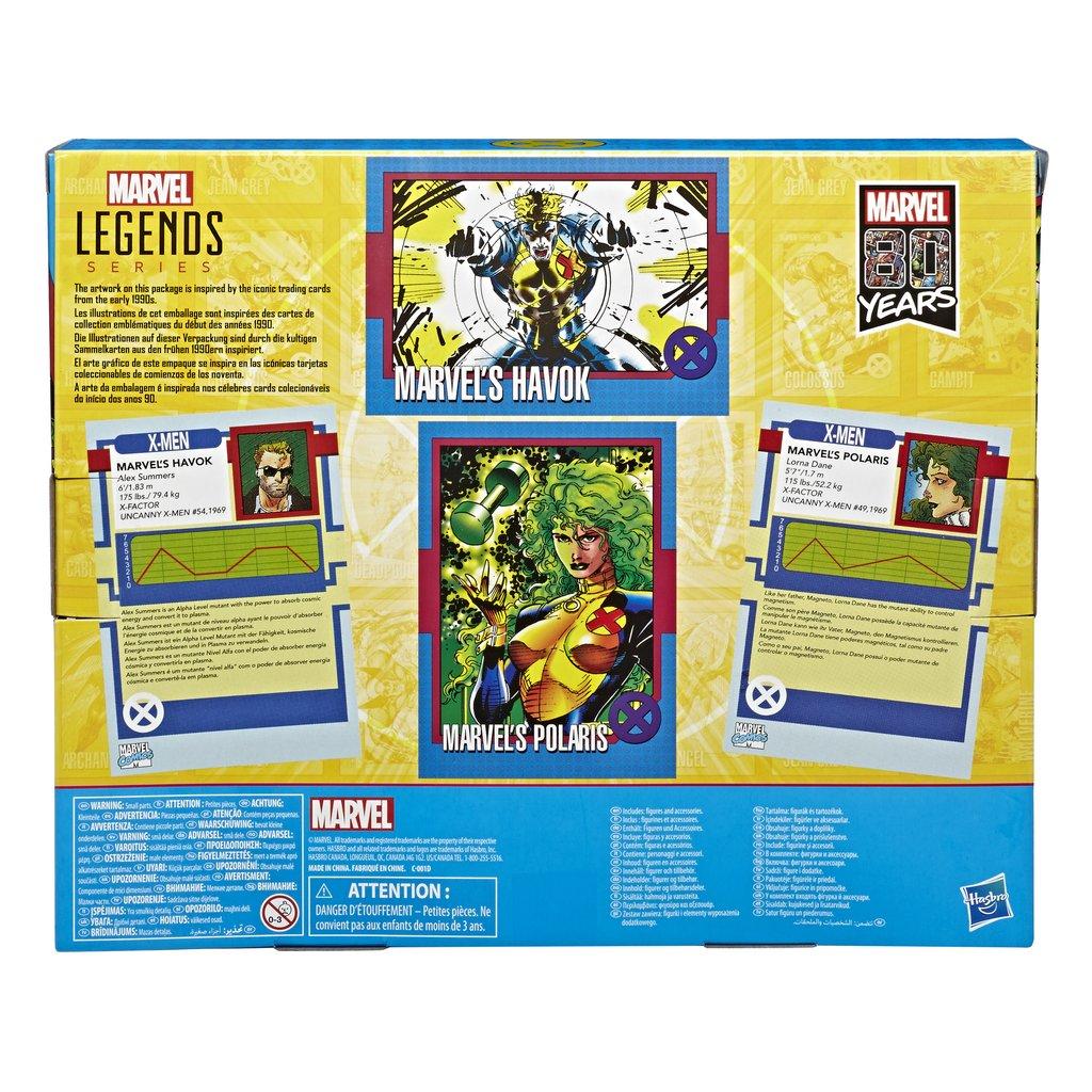 Marvel legends 90/'s Havok And Polaris Exclusive Figure 2 Pk Pre Order