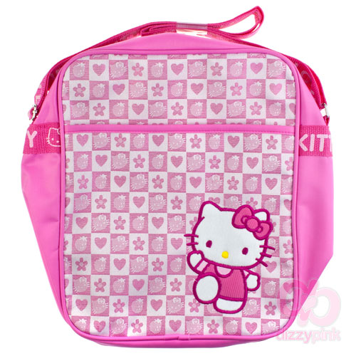 1fe3d474ba9f New In! Hello Kitty Pink Strawberry Check Messenger Bag – Dizzy Pink ...