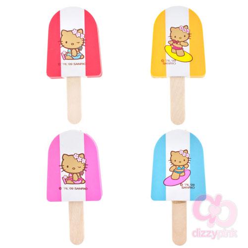 Hello Kitty Ice Pop Eraser Set of 4 - Surf Kitty