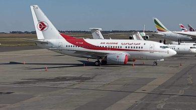 صورة طائرة للجوية الجزائرية تحط بمطار جوهانسبورغ بجنوب إفريقيا