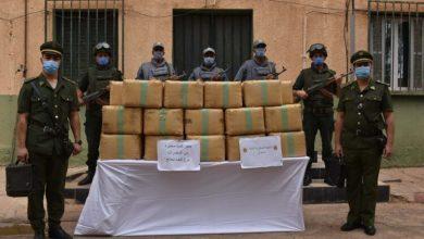 صورة إحباط محاولات إدخال أزيد من 12 قنطارا من الكيف المعالج عبر الحدود مع المغرب في ظرف أسبوع