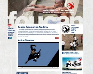 Foucan Free Running WordPress website