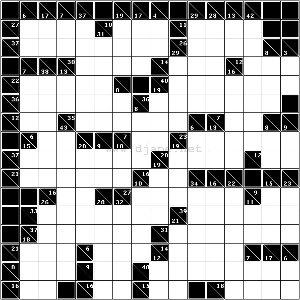 image about Kakuro Puzzles Printable identified as Weekly Kakuro (Cross Sums) #7
