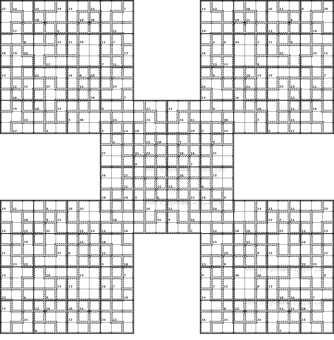 Butterfly Killer Samurai Sudoku