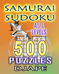 Samurai Sudoku, 500 puzzles, all levels