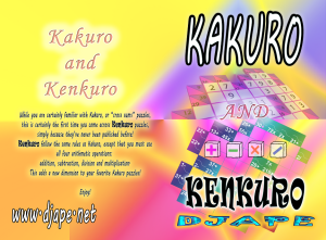 Kakuro  and Kenkuro  book