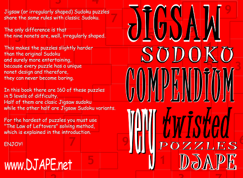 Jigsaw Sudoku Compendium, volume 1