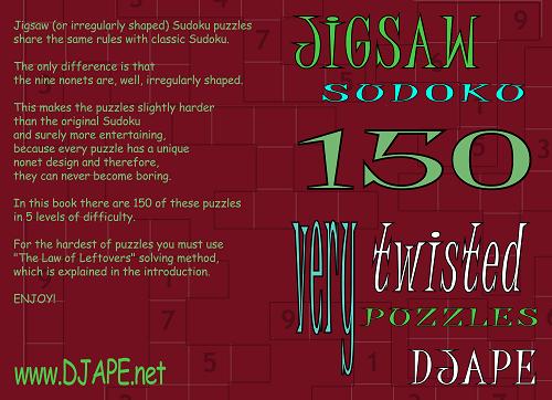 Jigsaw Sudoku book,volume 1