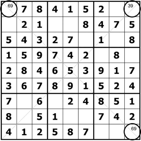 Diagonal Sudoku Solving techiniques