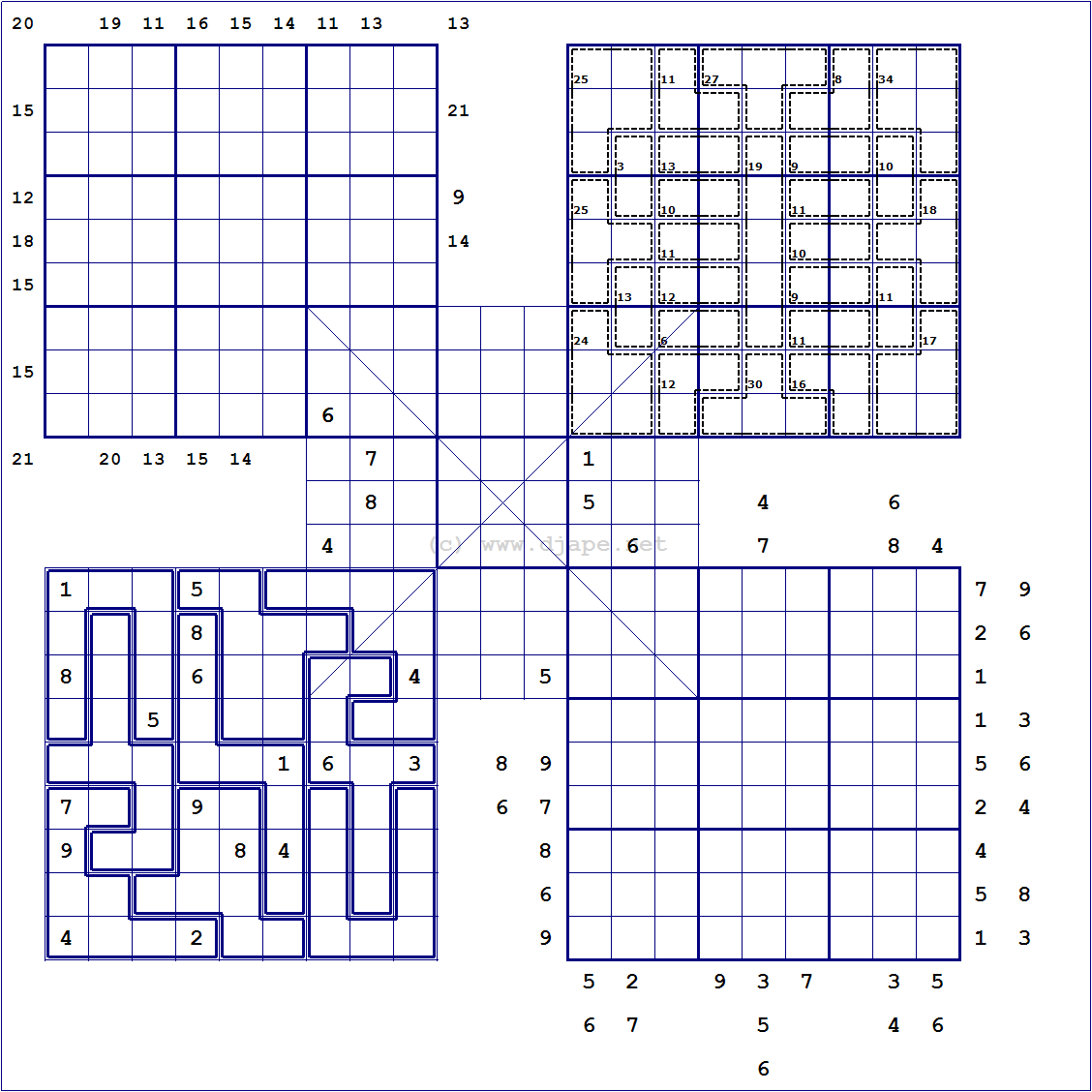 photograph relating to Jigsaw Sudoku Printable called Loco Sudoku