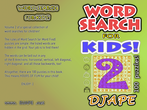 Word Searches for children book, volume 2