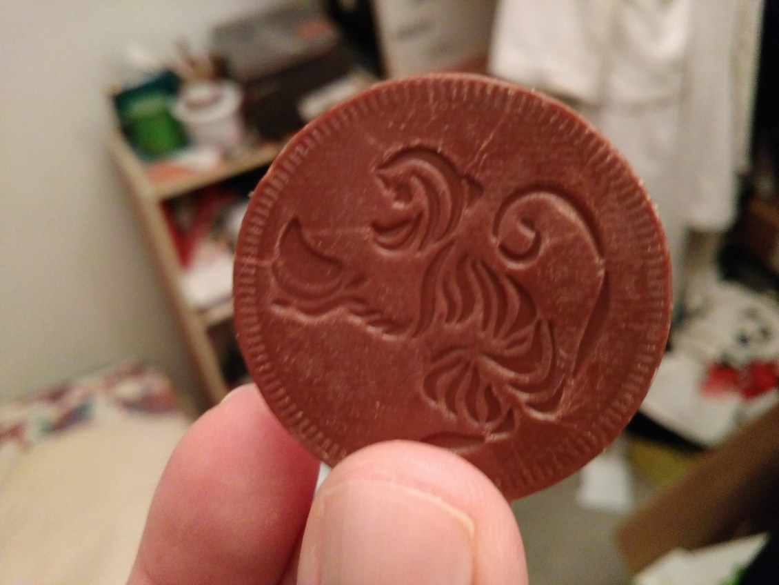 chocolate coin for music production