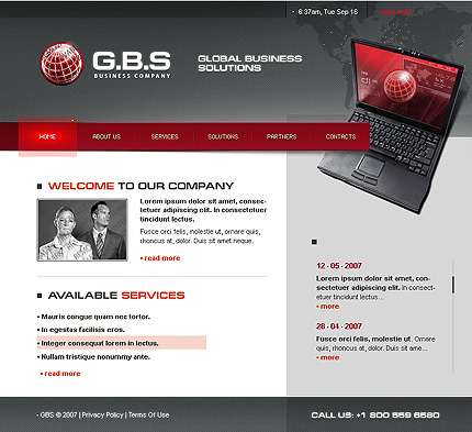 50+ High-Quality Free PSD Web Templates 20