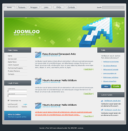 50+ High-Quality Free PSD Web Templates 26