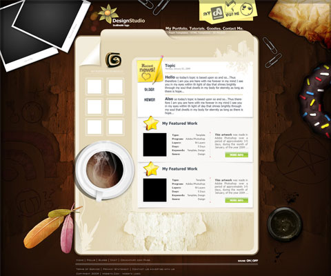 50+ High-Quality Free PSD Web Templates 3