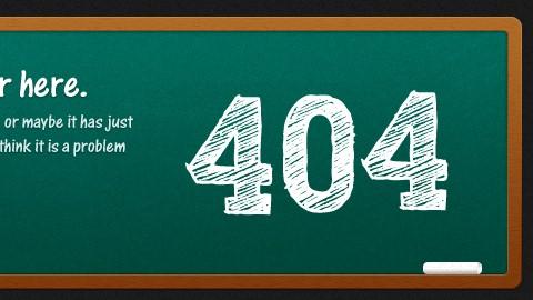35+ Creative 404 Error Page Designs 1