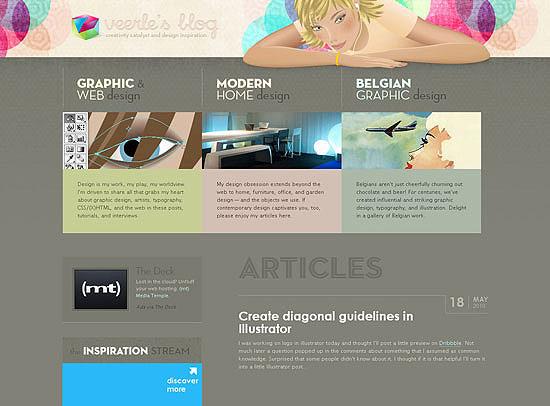 30+ Beautiful DIV/CSS Web Designs 11