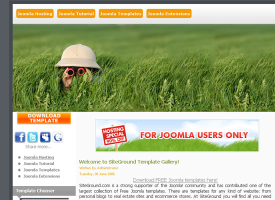 30 Free Joomla Website Themes Collection 12