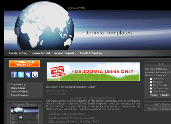 30 Free Joomla Website Themes Collection 8