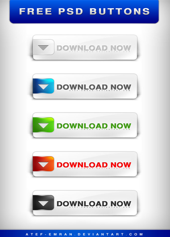 25 Beautiful Free Buttons for web designers with source file 8