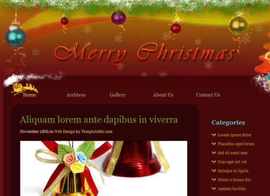 25 Free Web Design Themes for Christmas 12