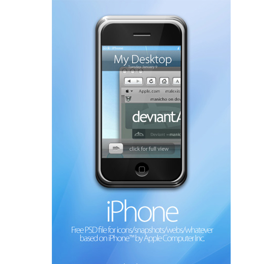 20 iPhone PSD Collection for Your Inspiration 6