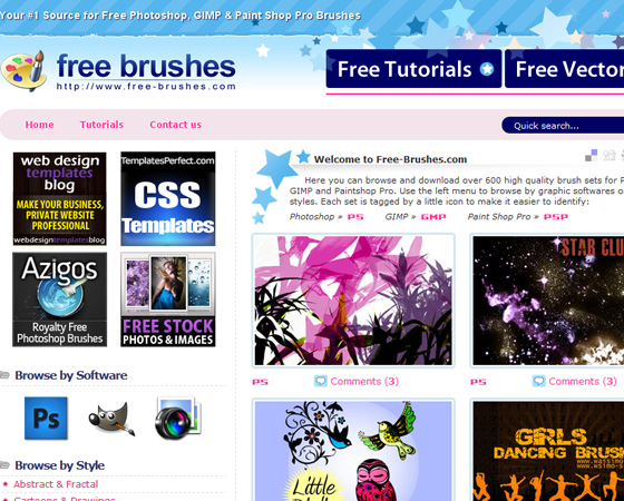 20 Amazing High Quality Photoshop Brush Directories for Designers 7