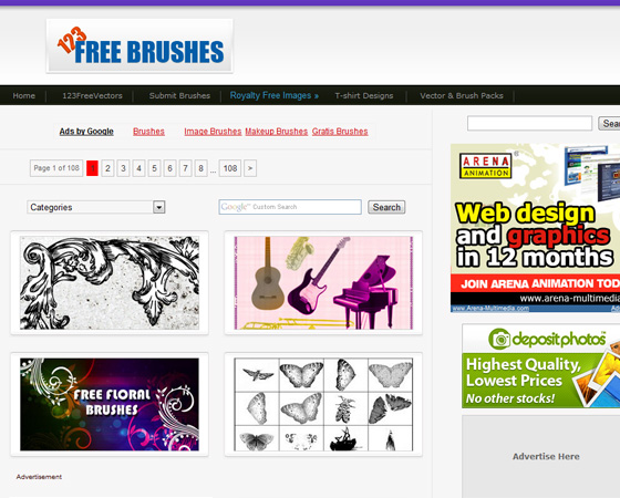 20 Amazing High Quality Photoshop Brush Directories for Designers 8