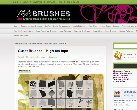 20 Amazing High Quality Photoshop Brush Directories for Designers 10