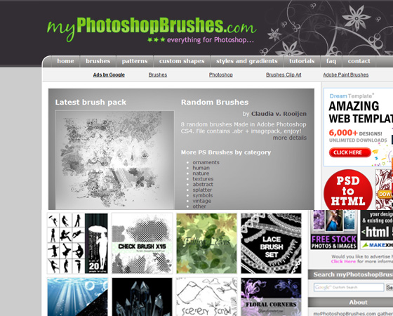 20 Amazing High Quality Photoshop Brush Directories for Designers 3