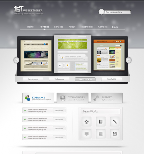 20 Most Useful Photoshop Tutorial to Create High Quality Web Design Layout 2
