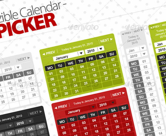 20 Beautiful and Useful Premium Calendar Resources with PSD/EPS File 2