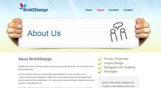 Experience About Us Pages of Some Highly Creative Designers Website 9