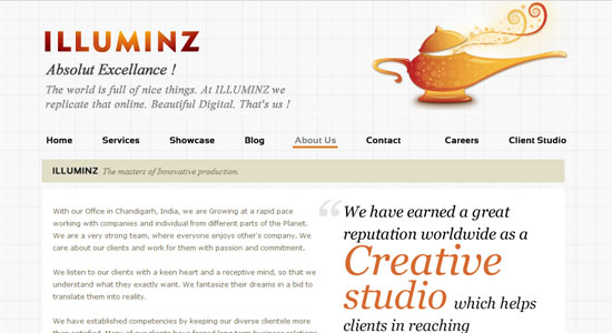 Experience About Us Pages of Some Highly Creative Designers Website 4